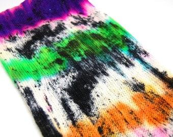 "Glam Rock Sparkle Sock Blank - ""Witch, Please!""  -  Handpainted Superwash Merino - 438 Yards"