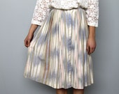 watercolor -- vintage 80s cotton ikat button front full skirt XS/S
