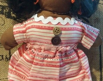 handmade black rag doll