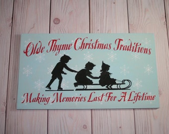 Country Christmas decor - Handmade wooden sign - Olde thyme christmas traditions - Holiday home decor - Modern christmas decor - wood sign