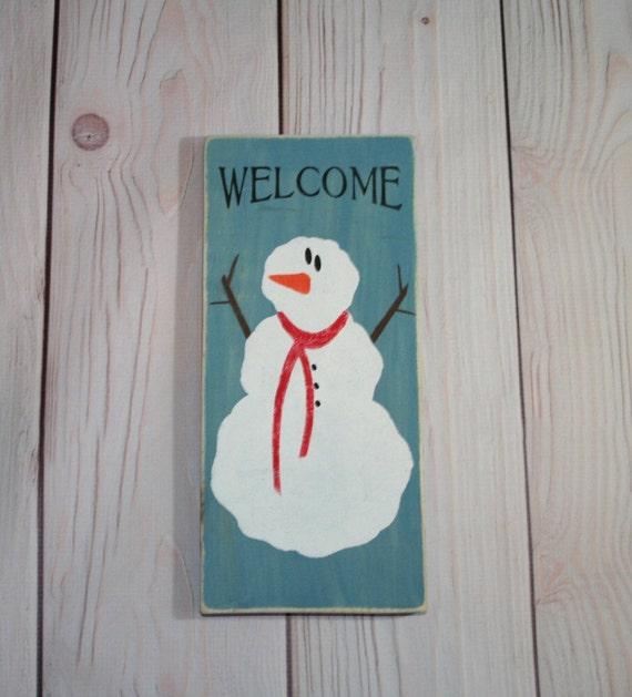 Items Similar To Snowman Snowman Sign Christmas Decor