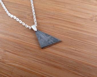 Muonionalusta Iron Meteorite  Silver Pendant / necklace