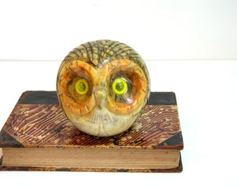 Vintage Marble Owl Book End, Wise Owl Bookend