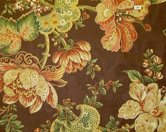 Brown Floral Throw Pillow - Croscill Garden Luxuriance Chocolate Floral Decorative Pillow Free Shipping
