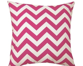 Premier Prints Zig Zag Candy Pink and White Chevron Decorative Throw Pillow - Free Shipping