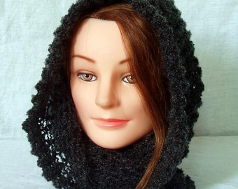 Cowl - charcoal  - knit