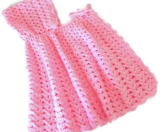 Cape Pink Baby Girl Cape Crochet