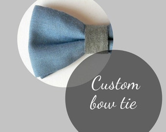 Custom bow tie. Wedding bow tie. Groom accessories. Pre tied bow tie - Made in Italy.  Choose your fabric.