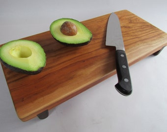 RECLAIMED Beautiful CHERRY Raised MED serving/cutting board eco hardwoods