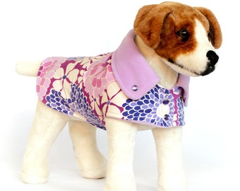 Blossom: Dog Jacket, Dog Jackets, Dog Fleece, Corduroy Dog Jacket