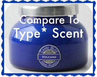CAPRI BLUE VOLCANO Type* Scented Soy Wax Melts - Handmade Soy Tarts - Hand Poured - Highly Scented - Made In UsA - American Grown Soy Wax
