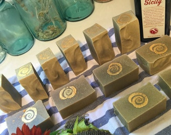 Pure French Lavender Soap with rhassoul frankincense vetiver myrrh raw sunflower seeds whipped in olive oil