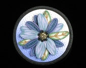 Colorful Purple & Blue Flower Brooch - Polymer Clay Brooch - Lapel Pin - Art Pin - Unique Handmade Gift for Women - Mom Gift - Gardener Gift
