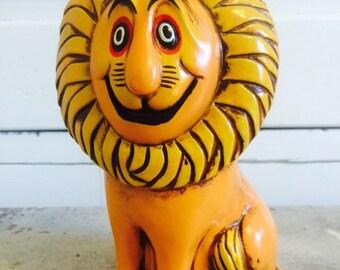 Vintage Lion Bank Retro Japan Figurine