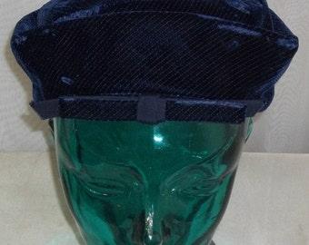 HOT SALE Vintage Amy New York Blue Velvet NY Hat Bright Size 21