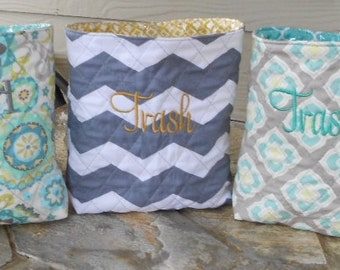 Car Trash Bag * Quilted and Personalized