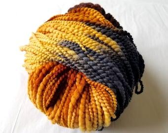 Schaefer Elaine Yarn Hand-Painted Luxury Bulky Merino Wool Charcoal, Golds