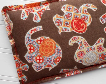 Keepin' Cozy Willy Pad: Microwaveable Heating Pad and Ice Packs, Flax Seed and Lavender Compress, Multiple Sizes - Indian Elephants