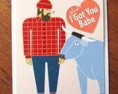Paul Bunyan & Babe Card
