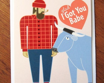 Paul Bunyan & Babe Card
