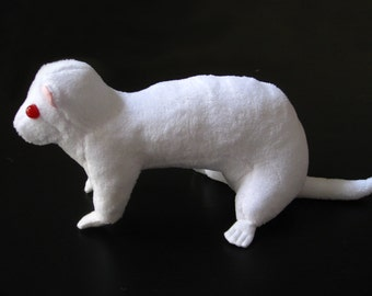 Albino Ferret Plush Doll