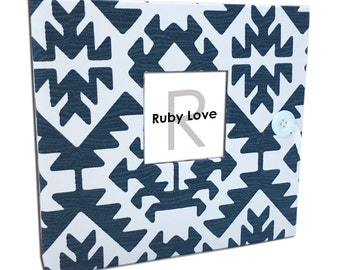 BABY BOOK | Navy Pawnee Tribal Baby Book | Ruby Love Modern Baby Memory Book