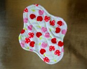 "9.5"" Medium Flow Reusable Cloth Pad ~ Cherry Soda Minky ~ by Talulah Bean"