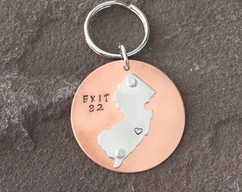 Jersey shore keychain local exit 82 New Jersey strong