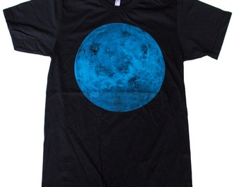 Mens PLANET venus AMERICAN APPAREL t shirt xs S M L xl xxL (Black)