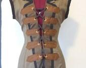 save for ElindielForestStar Steampunk pirate victorian vest coat