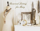 RESERVED for Mary / Inspiration Kit Romantic French Themed Supply Shabby Tray Organizer