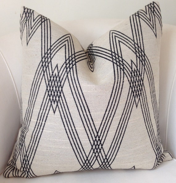 Black And Beige Decorative Pillows : Ikat Pillow Cover Beige Black Pillow Throw Pillow Black Beige
