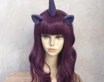 READY to SHIP Muted Purple Unicorn Pony Costume Wig