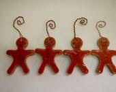 Ginger Bread Men Ceramic Christmas Ornaments