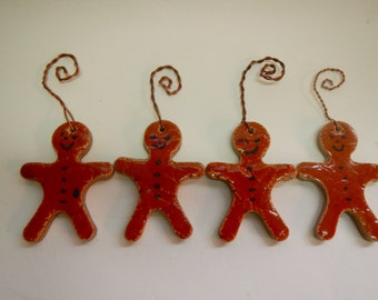Ginger Bread Men Ceramic Christmas Ornaments