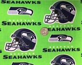 BTY Seattle Seahawks Licensed NFL Football Helmet 100% Cotton Fabric (Green)