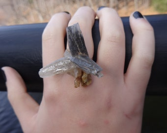 Quartz Crystal Adjustable Ring: The Drama Queen