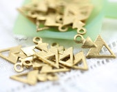 Tiny Brass Triangle 7x12mm Charms Dangles - 20
