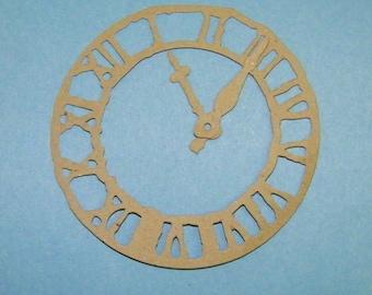 Weathered Clock Tim Holtz Kraft Chipboard Die Cut Pack of 2 DIY
