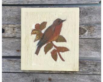 Bird Art - Wooden Plaque - Wood Plaque - Bohemian Decor - Woodland Decor - Bird Lover - Chic