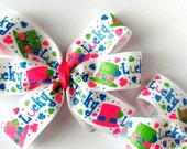 Girl's Boutique Hair Bow st Patrick's Day Lucky Bow