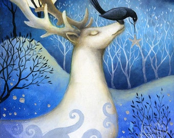 Special price!       Limited edition giclee of The Guardian of Stars by Amanda Clark.