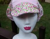 Floppy Corduroy Patchwork Pink Flowers Festival Hat