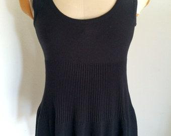 ON SALE -> Ribbed Black Sweater Tank