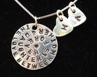 The love between Mother and Daughter is forever necklace, Personalized Mother Daughter necklace, Mom of girls gift, Girl mom gift, Mom gift