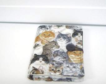 Honey Do List, Grocery List Taker  Day Planner Comes with Note Pad and Pen- Cat on Gray
