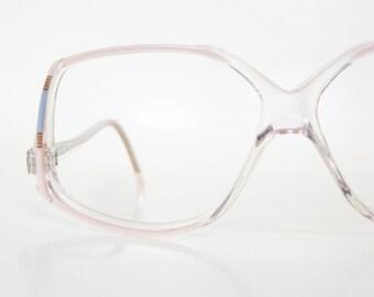 1980s Vintage LAmy Glasses Colorful Confetti Eyeglasses Clear
