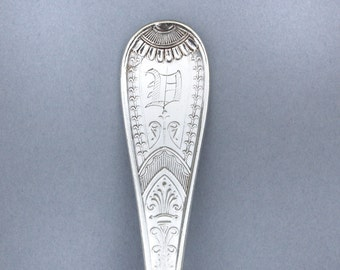 Spoon Key Chain Spoon Key Ring Vintage Silverware in the Victor Pattern V Monogram