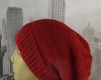 HALF PRICE SALE Instant Digital File pdf download Knitting Pattern - City Slouch hat knitting pattern by madmonkeyknits