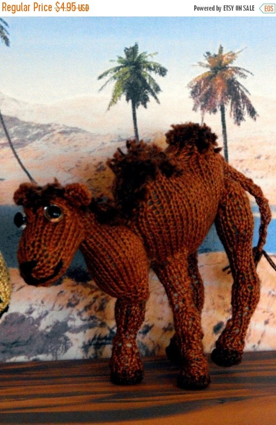 HALF PRICE SALE Instant Digital File pdf download knitting pattern - Cameron Camel toy animal pdf download knitting pattern.